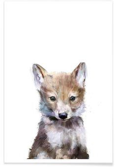 Little Wolf als Premium Poster von Amy Hamilton | JUNIQE
