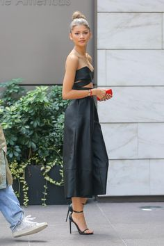 Zendaya arriving at an office building in NYC 8/5/15