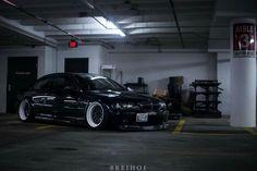 BMW E46 M3 black deep dish slammed