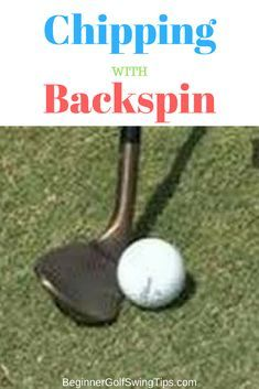 Learn how to chip with backspin. Golf lesson on chipping with backspin. Improve your short game with these golf chipping tips. Golf 2, Golf Ball, Play Golf, Sport Golf, Bowling Ball, Disc Golf, Golf Chipping Tips, Golf Putting Tips, Golf Videos