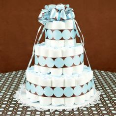 Baby Shower Cake Table | Baby Shower Diaper Cakes | Ideas For Baby Shower