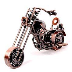 3D Metal Motorcycle Retro Vintage Model Classic Motorbike Kit Model Sculpture #Unbranded
