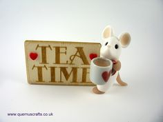 Little Tea Time Mouse Biscuit, Disney Art, Tea Time, Polymer Clay, Mugs, My Favorite Things, Tableware, Crafts, Upcoming Events
