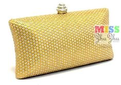 "New Moive Star's Favorite Rhinestone Locker Metallic Evening Purse Mini Bag Clutch Gift Holiday Birthday Gift Met021-gold by Miss ZhuZhu. $22.99. VERY ELEGANT & CLASSIC       A PERFECT PURSE FOR EVENING OCCASIONS     HARD SHELL PVC MADE+SEQUINS            FLANNELETTE LINING         BUCKLE CLOSURE         RHINESTONE+METAL BUCKLE  BIG ENOUGH FOR KEY, CREDIT CARD, AND CELL PHONE  COMES WITH 2 METAL CHAINS         COLOR:BLACK,SILVER,GOLD         SIZE: 7"" X 4""X1.9"" INCH   (1..."