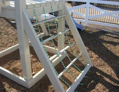 The perfect addition to your Ruffhouse swing set! Swing Set Accessories, Rope Ladder, Stairs, Platform, Backyard, Stairway, Patio, Staircases, Backyards