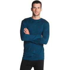 Merino Long Sleeve Crew: Merino is a natural choice for base layers. Worn next to the skin, it buffers temperature changes, so you don't feel insta Gift Suggestions, Long Sleeve, Mens Tops, Blue, Collection, Fashion, Moda, Long Dress Patterns, Fashion Styles