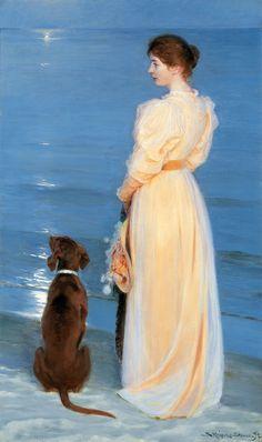 P.S Krøyer: Summer evening at Skagen | Skagens Kunstmuseer | Art Museums of Skagen