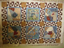 QUILTED WALLHANGING KITCHEN MOTIF SUSAN WINGET FABRICS UNFINISHED