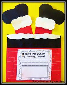 First Grade Wow: Oh No! Santa's Stuck!!