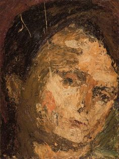 Head of E.O.W. 1954 Frank Auerbach