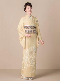 Kimono 訪問着 / Chiso 千總 / 天平華布 帯:綾趣菱文
