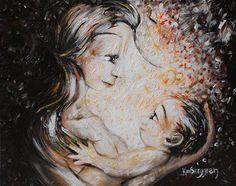 Maternidade - Pintura de Katie Berggren