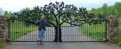 Awesome Entry Gates Designs Awesome Custom Gates And Entrance Designed, Fabricated And Installed For Ole