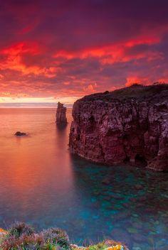 0ce4n-g0d:  Sunset Le Colonne CarlofortebyDaniele Atzori