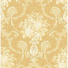 Winsome Mustard Floral Damask Wallpaper Lowes Samples Roll