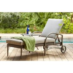 Hampton Bay Posada Patio Chaise Lounge with Cushion Insert (Slipcovers Sold Separately)-153-120-CL-NF - The Home Depot