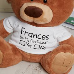 Be My Girlfriend Caramel Charlie Bear Be My Girlfriend Caramel Charlie Bear Personalised Be My Girlfriend Caramel Charlie Bear<br>