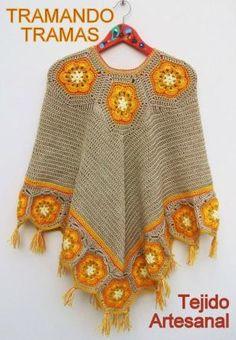 crochet poncho by gema girasol
