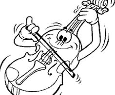 Violin Printable Coloring Page Music Pages