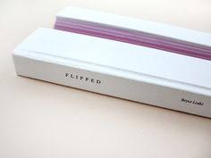 """Flipped"" experimental book design"