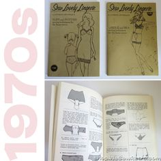 Sew Lovely Lingerie Vintage Books for Making Panties, Slips, Girdles and Bras