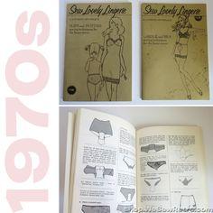 Sew Lovely Lingerie Vintage Books for Making Panties, Slips, Girdles and Bras
