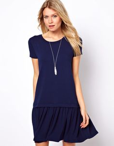 ASOS T-Shirt Dress With Drop Waist