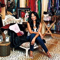 "Kimora Lee Simmons ...""I wanted my closet to look like a boutique,"" she says. It contains over 500 pairs of jeans, 35 custom-made Hermes Birkin bags and an extensive collection of jewelry."