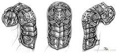 Black Wolf Armor Tattoo Design - Black Wolf Armor Tattoo Design -You can find Wolf tattoo design and more on our website. Armor Sleeve Tattoo, Armor Of God Tattoo, Armour Tattoo, Shoulder Armor Tattoo, Norse Tattoo, Celtic Tattoos, Viking Tattoos, Sleeve Tattoos, Maori Tattoos