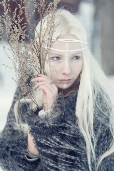 snow fairy  Gina~this would be a cool idea. Snow fairy. Pale pale makeup and icy elements and accessories...