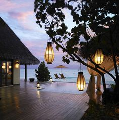 The Taj Exotica Resort & Spa is an exclusive, private and romantic island resort lush with tropical plants and encircled by clear blue waters of one of the largest lagoons of the Maldives.