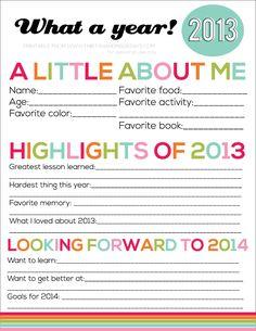 Printable New Year's Eve Resolutions for Kids from www.thirtyhandmadedays.com