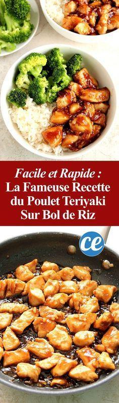 Rapide et Facile à Faire : La Fameuse Recette du Poulet Teriyaki Sur Bol de Riz.