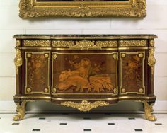 Commode with Pastoral Marquetry attributed to Jean-Henri Riesener circa 1775 on display in the Entry Hall French Furniture, Classic Furniture, Furniture Styles, Luxury Furniture, Antique Furniture, Furniture Design, Luis Xvi, Antique Beds, Marquetry
