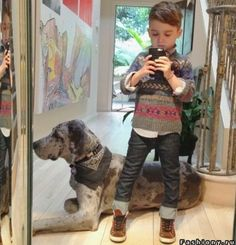 Boys fashion, outfits for boys, boys outfits, sweater. Adorable haircut too!