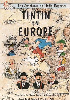 Les Aventures de Tintin - Album Imaginaire - Tintin en Europe: