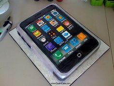 iPhone cake.