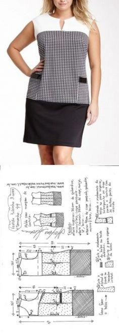 Vestido tubinho 3 cores | DIY - molde, corte e costura - Marlene Mukai