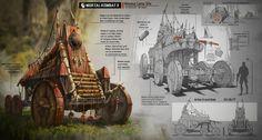 Mortal Kombat X: War Wagon for Mileena's Camp, Anthony Sixto on ArtStation at https://www.artstation.com/artwork/NGOGg