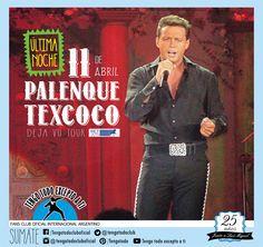 11-04-2015 - Deja Vu Tour 2015- Ultima noche en Palenque- Texcoco-. Tengo Todo Excepto a Ti, fans club oficial internacional Argentino-  Desde 1990 Junto a Luis Miguel Seguinos en todas nuestras redes sociales: FACEBOOK:  https://www.facebook.com/pages/Tengo-Todo-Excepto-A-Ti/595464773913653 TWITTER: @tengotodoclub - INSTAGRAM: @Tengotodocluboficial - y también en nuestro canal de YOUTUBE- o escribinos al MAIL: tengotodocluboficial@gmail.com