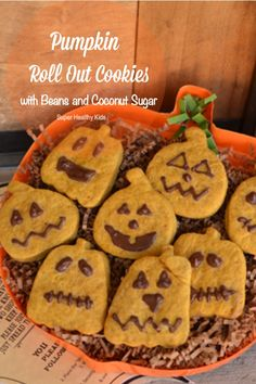 Pumpkin Roll Out Cookies with Beans and Coconut Sugar. Spook & get spooked this Halloween with these delicious pumpkin cookies! Roll Cookies, Sweet Cookies, Cut Out Cookies, Sugar Pumpkin, Pumpkin Cookies, Pumpkin Spice, Libby's Pumpkin, Libbys Pumpkin Roll, Pumpkin Recipes