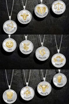 Carry the power of your zodiac everywhere you go! ✨♉️♑️♎️♒️♓️♋️♊️♏️♈️♍️ Item #: 947113 Trendy Jewelry, Jewelry Trends, Zodiac Circle, Leo And Aquarius, Virgo And Cancer, Face Jewellery, Front Back Earrings, Zodiac Jewelry, Circle Pendant Necklace