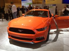 The new 2015 Ford mustang fastback at the #forddirect booth at #NADA2014 What do we think to the color?