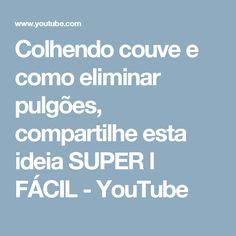 Colhendo couve e como eliminar pulgões, compartilhe esta ideia SUPER l FÁCIL - YouTube