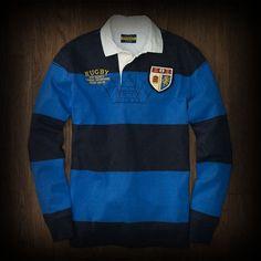 Ralph Lauren メンズ ポロシャツ ラルフローレンラグビー Black and Blue Rugby ポロシャツ-アバクロ 通販 ショップ #ITShop