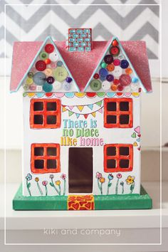 Stenciled Doll House Craft