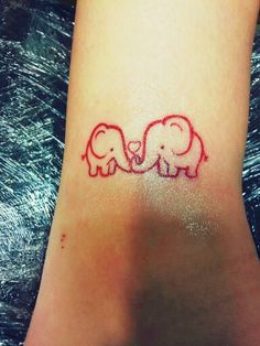 My small red elephant tattoo #tattoo #elephant #smalltattoo My favorite so far :)