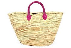 Maui Shopping Basket, Fuchsia
