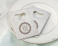 Personalized Silver Credit Card Bottle Opener - Boho   My Wedding Favors