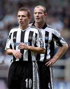 Craig Bellamy and Alan Shearer on Newcastle United FC Newcastle Football, Newcastle United Fc, Football Soccer, Football Players, Alan Shearer, St James' Park, North East England, Sport Icon, Saint James